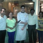 With Chef Gaurav and my family