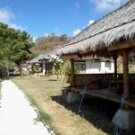 cottages and way to restaurant