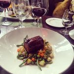 the lamb in the brasserie was divine