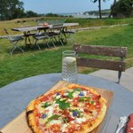 my pizza and that view, just lush!