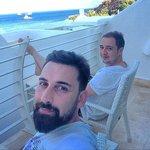 Deniz tarafı odanın balkonu...