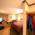 Trailhead Rooms feature extra space for your outdoor equipment.