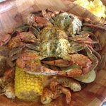 #2 - 3 crabs,1/2 lb med shrimp,1 potato,corn and soda.