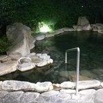 夜の貸し切り露天風呂