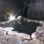 夜の貸し切り露天風呂2