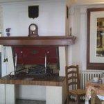 cheminée de la salle de restauration