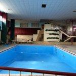 The pool area