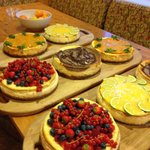 A selection of baked cheesecakes
