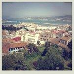 Vue depuis la chambre sur la baie de Tanger