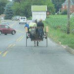 you'll see lots of horse & buggies on the road in front of the motel.