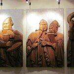 Triptico de cuadro tallado en madera