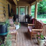 Silent sport lodge relaxing porch
