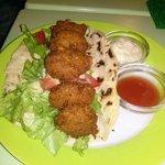 Falafel with dips