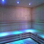 Sauna pretty lighting