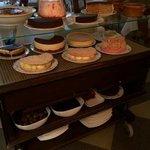 et le chariot de desserts...