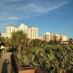 Look from beach towards resort