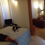 sala que se transformou quarto