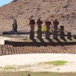 Moai's on the beach