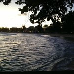 Dover beach at dusk