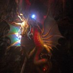 The dragon at the end of the Crystal cave