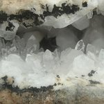 Quartz Crystal Vein with Many Water Clear Arkansas Crystals