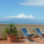 view of Vesuvius from the sun terrace