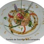 Tartare de saumon à la coriandre