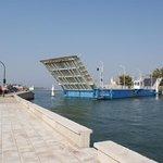 Lefkada day out. Floating Swing Bridge