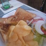 Cheese and onion toastie