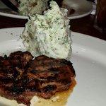 Steak Maui- marinated ribeye with mashed potatoes