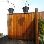 outdoor shower for two - villa on the rocks
