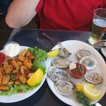 Oysters and calamary