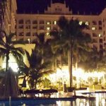 The Riu Palace at night