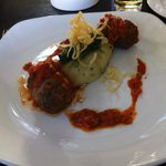Venison meatballs and herb mash...Mmmm
