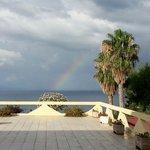 Regenbogen nach Gewitternacht
