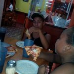 They ate 3 family size pizzas this night!