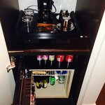 mini bar & coffee maker
