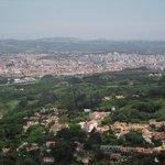 Vista de Sintra de cidades vizinhas.