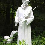 St. Francis statue on the Monastery grounds