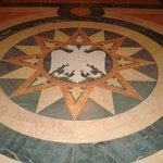 coat of arm on the marble floor