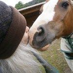 Lisa lovin on Sonjia's ponies....