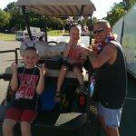 Golf Cart parade at campground