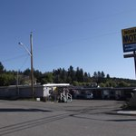 Easy to spot the Nomad Motel in Clinton