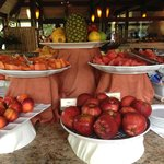 Wonderful fruit choices at breakfast buffet
