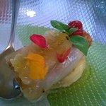 aubergine, goat's cheese and honeycomb