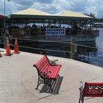 View of waterside outdoor dining