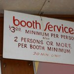 Booth requirements
