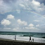 Bet first day with a beach rainbow!