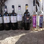 Some of the wines at one of the wineries