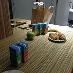 Ontbijt in het keukentje